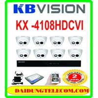 Trọn bộ 8 camera KBVISION KX-1008HDCVI