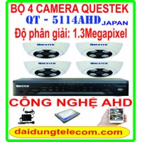 BỘ 4 CAMERA QUESTEK QT-5114AHD1.3Mp