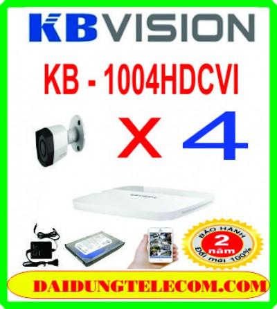 TRỌN BỘ 4 CAMERA HDCVI KB -1004HDCVI
