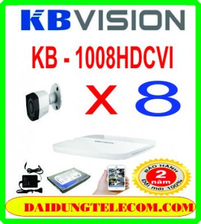 TRỌN BỘ 8 CAMERA HDCVI KB -1008HDCVI