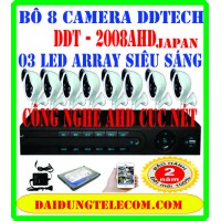 BỘ 8 CAMERA DDTECH DDT-2008AHD