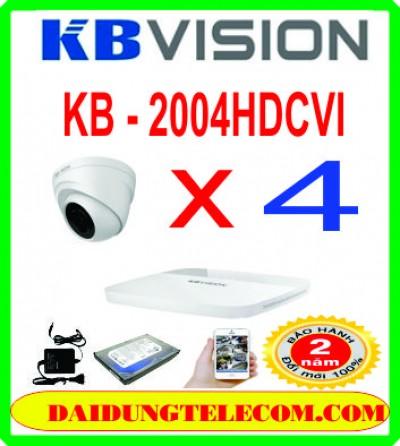 TRỌN BỘ 4 CAMERA HDCVI KB -2004HDCVI