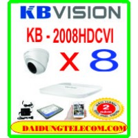 TRỌN BỘ 8 CAMERA HDCVI KB -2008HDCVI
