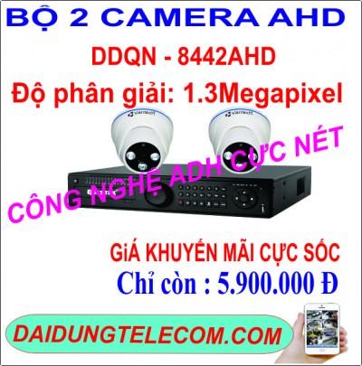 BỘ 2 CAMERA AHD DDQN-8442AHD 1.3MP