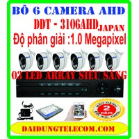 BỘ 6 CAMERA AHD DDT-3106AHD