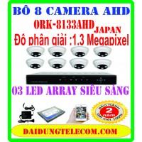 bộ 8 camera ORK-8133AHD