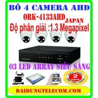 bộ 4 camera ORK- 4133AHD