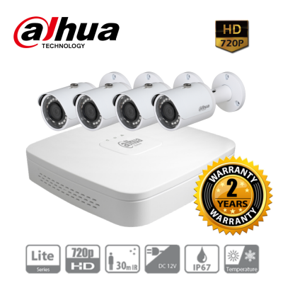 Trọn bộ 4 camera dahua HD2004