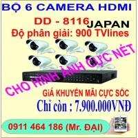 Bộ 6 camera HDMI DD-8116